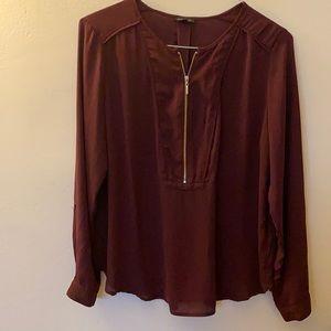Dark maroon/red blouse